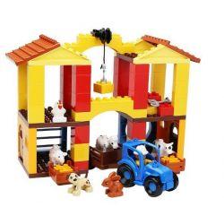 NOT LEGO Duplo 10525 Big Farm, Hystoys HongYuanSheng Aoleduotoys HG-1365 Xếp hình nông trại vừa 121 khối