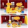 Hystoys Hongyuansheng Aoleduotoys HG-1422 (NOT Lego Duplo 5639 Family House ) Xếp hình Ngôi Nhà Màu Đỏ 71 khối