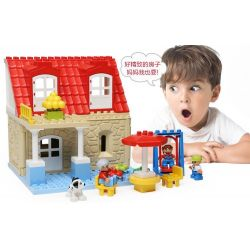 Hystoys HongYuanSheng Aoleduotoys HG-1420 Xếp hình kiểu LEGO Duplo Family House nhà bà nội 42 khối