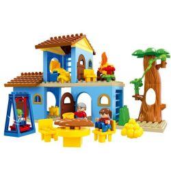 HYSTOYS HONGYUANSHENG AOLEDUOTOYS  HG-1423 1423 HG1423 Xếp hình kiểu Lego Duplo DUPLO Family House nhà bà ngoại 53 khối