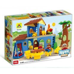 Hystoys HongYuanSheng Aoleduotoys HG-1423 Xếp hình kiểu LEGO Duplo Family House nhà bà ngoại 53 khối