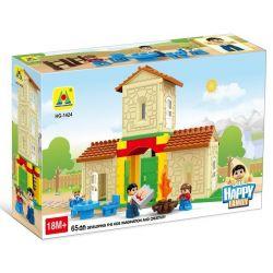 HYSTOYS HONGYUANSHENG AOLEDUOTOYS  HG-1424 1424 HG1424 Xếp hình kiểu Lego Duplo DUPLO Family House Ngôi nhà nông trại 42 khối