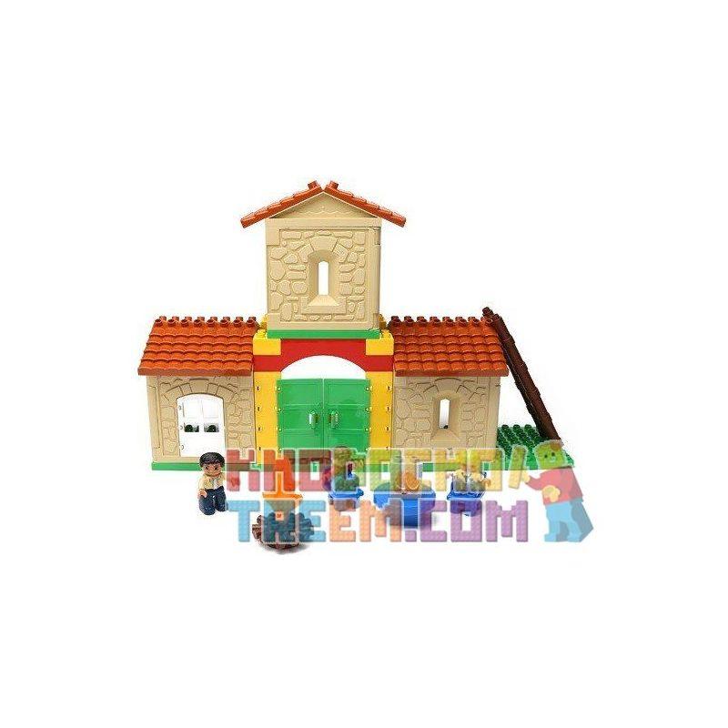 Hystoys Hongyuansheng Aoleduotoys HG-1424 (NOT Lego Duplo Family House ) Xếp hình Ngôi Nhà Nông Trại 42 khối
