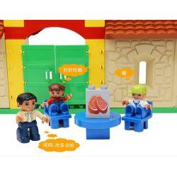 Hystoys HongYuanSheng Aoleduotoys HG-1424 Xếp hình kiểu LEGO Duplo Family House Ngôi nhà nông trại 42 khối
