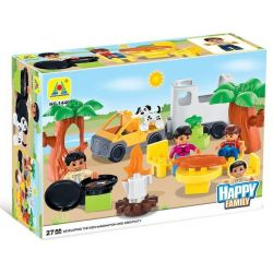 NOT Lego Duplo DUPLO 5655 Caravan, HYSTOYS HONGYUANSHENG AOLEDUOTOYS  HG-1440 1440 HG1440 Xếp hình buổi dã ngoại vui vẻ 27 khối