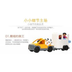 NOT LEGO Duplo 5655 Caravan, Hystoys HongYuanSheng Aoleduotoys HG-1440 Xếp hình buổi dã ngoại vui vẻ 27 khối