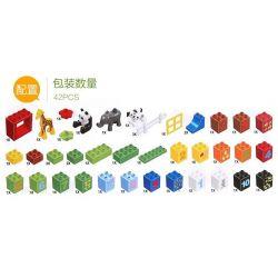 NOT Lego Duplo DUPLO 10572 All-in-One-Box-of-Fun, HYSTOYS HONGYUANSHENG AOLEDUOTOYS  HG-1459 1459 HG1459 Xếp hình Hộp vui nhộn 65 khối