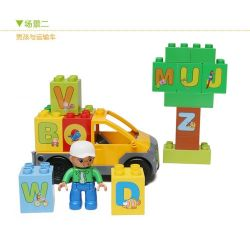 NOT LEGO Duplo 6051 Play with Letters Set, Hystoys HongYuanSheng Aoleduotoys HG-1460 Xếp hình Học tập với bảng chữ cái 62 khối