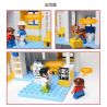 Hystoys Hongyuansheng Aoleduotoys HG-1461 (NOT Lego Duplo 5795 Big City Hospital ) Xếp hình Bệnh Viện Trung Ương Và Xe Cấp Cứu 127 khối