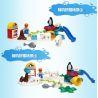 Hystoys Hongyuansheng Aoleduotoys HG-1475 (NOT Lego Duplo Polar Zoo ) Xếp hình Vườn Thú Bắc Cực Lớn Có Bàn 40 khối