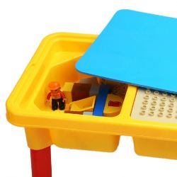 HYSTOYS HONGYUANSHENG AOLEDUOTOYS  HG-1481 1481 HG1481 Xếp hình kiểu Lego Duplo DUPLO Construction Site công trường xây dựng có bàn hộp 56 khối