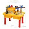 Hystoys Hongyuansheng Aoleduotoys HG-1481 (NOT Lego Duplo Construction Site ) Xếp hình Công Trường Xây Dựng Có Bàn Hộp 56 khối