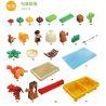 Hystoys Hongyuansheng Aoleduotoys HG-1486 (NOT Lego Duplo 5597 Dino Trap ) Xếp hình Bẫy Khủng Long Bạo Chúa Loại Có Bàn 36 khối