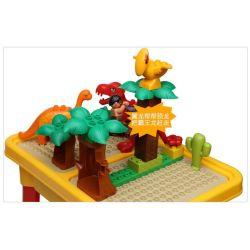 NOT Lego Duplo DUPLO 5597 Dino Trap, HYSTOYS HONGYUANSHENG AOLEDUOTOYS  HG-1486 1486 HG1486 Xếp hình bẫy khủng long bạo chúa loại có bàn 36 khối