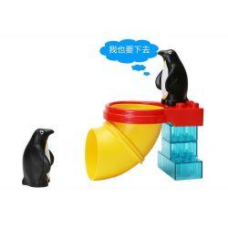 NOT Lego Duplo DUPLO 5633 Polar Zoo, HYSTOYS HONGYUANSHENG AOLEDUOTOYS  HG-1492 1492 HG1492 Xếp hình vườn bách thú bắc cực tí hon 32 khối