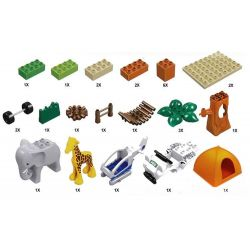 NOT Lego Duplo DUPLO 6156 Photo Safari, HYSTOYS HONGYUANSHENG AOLEDUOTOYS  HG-1609 1609 HG1609 Xếp hình khu bảo tồn động vật hoang dã 68 khối
