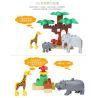 Hystoys Hongyuansheng Aoleduotoys HG-1609 (NOT Lego Duplo 6156 Photo Safari ) Xếp hình Khu Bảo Tồn Động Vật Hoang Dã 68 khối