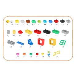 Hystoys HongYuanSheng Aoleduotoys HG-1660B Xếp hình kiểu LEGO Duplo Creative Bucket Thiên đường Học Tập 123 khối