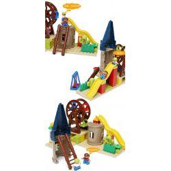 Hystoys HongYuanSheng Aoleduotoys HG-1444 Xếp hình kiểu LEGO Duplo Playground Set with Storage khu vui chơi thiên đường 52 khối