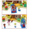Hystoys Hongyuansheng Aoleduotoys HG-1444 (NOT Lego Duplo Playground Set With Storage ) Xếp hình Khu Vui Chơi Thiên Đường 52 khối