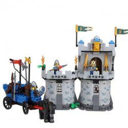 Enlighten 1020 Qman 1020 Xếp hình kiểu Lego Castle Knights Castle Brother Bunker Phòng Thủ Lâu đài Nhà Vua 267 khối