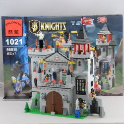 Enlighten 1021 Qman 1021 KEEPPLEY 1021 Xếp hình kiểu Lego CASTLE Castle Knights Tấn Công Lâu đài đại Bàng 568 khối