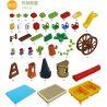 Hystoys Hongyuansheng Aoleduotoys HG-1490 (NOT Lego Duplo 6023997 45001 Playground Set With Storage ) Xếp hình Khu Vui Chơi Thiên Đường Có Bàn Hộp 54 khối