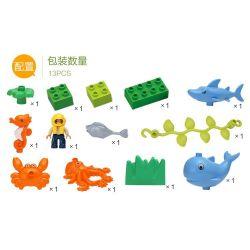 Hystoys HongYuanSheng Aoleduotoys HG-1501 Xếp hình kiểu LEGO Duplo Arctic Thế Giới đáy Biển 13 khối