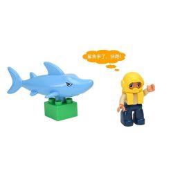 HYSTOYS HONGYUANSHENG AOLEDUOTOYS  HG-1501 1501 HG1501 Xếp hình kiểu Lego Duplo DUPLO Arctic Thế Giới đáy Biển 13 khối