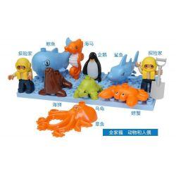 Hystoys HongYuanSheng Aoleduotoys HG-1450 Xếp hình kiểu LEGO Duplo Arctic lâu đài thủy cung 41 khối