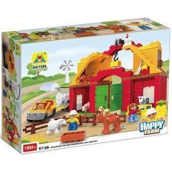 HYSTOYS HONGYUANSHENG AOLEDUOTOYS  GM-5001 5001 GM5001 HG-1268 1268 HG1268 Xếp hình kiểu Lego Duplo DUPLO Big Farm Nông Trại Nhỏ gồm 2 hộp nhỏ 76 khối