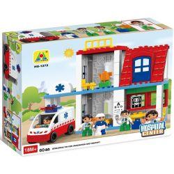 NOT LEGO Duplo 5695 Doctor's Clinic, Hystoys HongYuanSheng Aoleduotoys HG-1272 Xếp hình phòng khám bác sỹ 60 khối