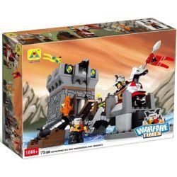 NOT Lego Duplo DUPLO 4776 Dragon Tower, HYSTOYS HONGYUANSHENG AOLEDUOTOYS  HG-1310 1310 HG1310 Xếp hình Tháp canh bảo vệ 75 khối