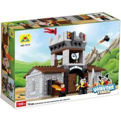 Hystoys HongYuanSheng Aoleduotoys HG-1313 Xếp hình kiểu LEGO Duplo Lego Duplo Castle 76 Nhà kho của nhà vua 76 khối