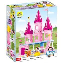NOT LEGO Duplo 6152 Snow White's Cottage, Hystoys HongYuanSheng Aoleduotoys HG-1345 Xếp hình lâu đài của Bạch Tuyết 52 khối