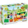 Hystoys Hongyuansheng Aoleduotoys HG-1354 (NOT Lego Duplo 5683 Market Place ) Xếp hình Chợ Phiên Nhộn Nhịp 25 khối