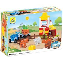 NOT LEGO Duplo 6141 My First Farm, Hystoys HongYuanSheng Aoleduotoys HG-1362 Xếp hình trang trại nhỏ 62 khối