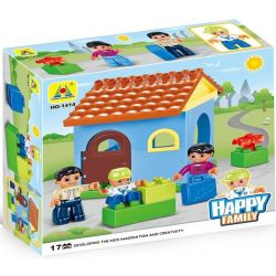 HYSTOYS HONGYUANSHENG AOLEDUOTOYS  HG-1414 1414 HG1414 Xếp hình kiểu Lego Duplo DUPLO Family House căn nhà nhỏ 17 khối