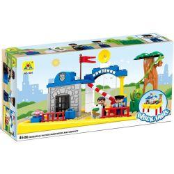 Hystoys Hongyuansheng Aoleduotoys HG-1485 (NOT Lego Duplo Police Station ) Xếp hình Trại Giam Của Cảnh Sát Có Bàn Hộp 45 khối