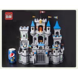 Enlighten 1023 Qman 1023 Xếp hình kiểu Lego Castle Knights Lion Wang Castle Bao Vây Lâu đài Nhà Vua 1393 khối