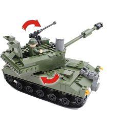 GUDI 600009A Xếp hình kiểu Lego MILITARY ARMY Armed Assault Xe Tăng 352 khối