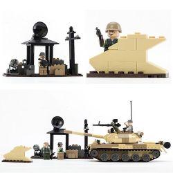 GUDI 600019A Xếp hình kiểu Lego MILITARY ARMY 武装突袭 t62 Armed Assault Series Xe Tăng T-62 Của Liên Xô 372 khối
