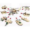 Xinlexin Gudi 8007-8 (NOT Lego Creator 8 in 1 Military Helicopter 8 In 1 ) Xếp hình Trực Thăng Quân Sự Từ 8 Thiết Bị Biến Hình 679 khối