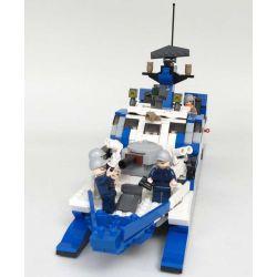 GUDI 8024 Xếp hình kiểu Lego MILITARY ARMY Stealth Missile Boat Navy Team Invisible Missile Ship Tàu Tên Lửa Cao Tốc Tàng Hình 578 khối