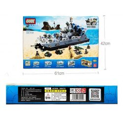 GUDI 8027 Xếp hình kiểu Lego MILITARY ARMY The Bison Hovercraft Tàu đệm Khí Zubr Bison 928 khối