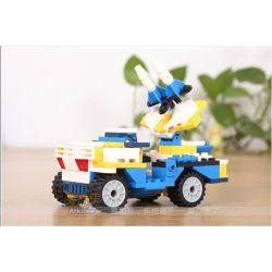 Gudi 8109A Xếp hình kiểu LEGO Creator 3 in 1 Helicopter Transform Armored Vehicles, Rocket Ship Trực Thăng Biến Hình Xe Bọc Thép, Tàu Tên Lửa 145 khối