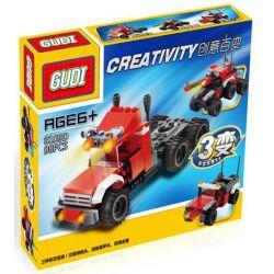 Gudi 8109D Xếp hình kiểu LEGO Creator 3 in 1 Military Equipment Transform To Trucks, Jeeps, Armoured Car Thiết Bị Quân Sự Biến Hình Xe Tải, Xe Jeep, Xe Bọc Thép 98 khối