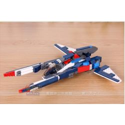 GUDI 8115 Xếp hình kiểu Lego CREATOR 3 IN 1 Creativity Transforming Rô Bốt Biến Hình Thành Phi Thuyền Chó Săn 242 khối