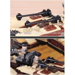 GUDI 8213 Xếp hình kiểu Lego Earth Border Desert Assault King Scorpion Assault Vehicle Xe Pháo Bọ Cạp 4 Bánh 224 khối