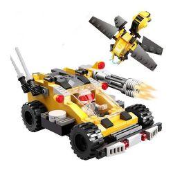 GUDI 8211 Xếp hình kiểu Lego EARTH BORDER Earth Border ô Tô Chiến đấu Cùng Robot Ong 185 khối